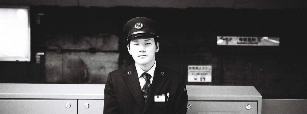 Tokyo Subway  station master portrait