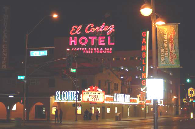 El Cortez today at night