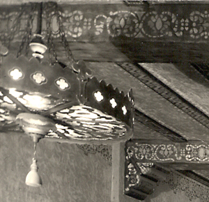 El Portal chandelier and interior beams - 1928