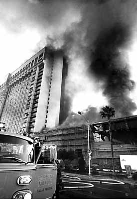 MGM Grand Hotel on fire