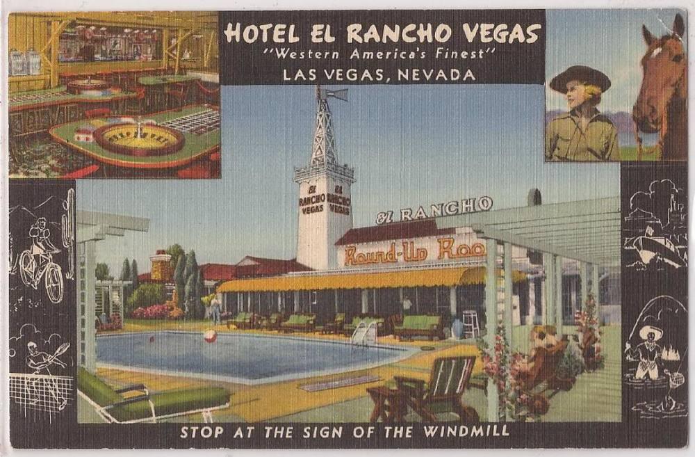 El Rancho Vegas postcard