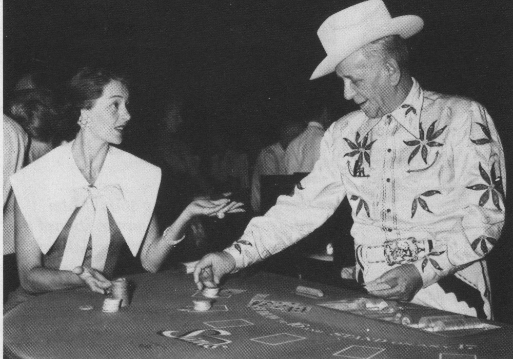 Sands Hotel owner Jake Friedman and Cyd Charisse