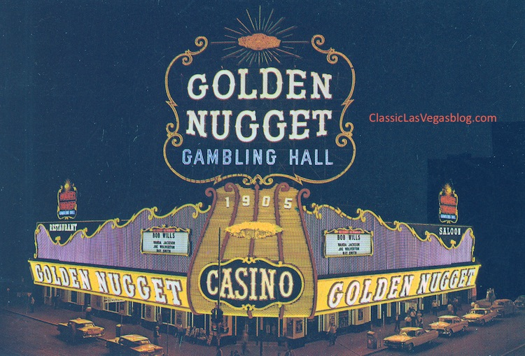 Golden Nugget facade which made it a popular photo opportunity for journalists, tourists and filmmakers, courtesy of Carey Burke