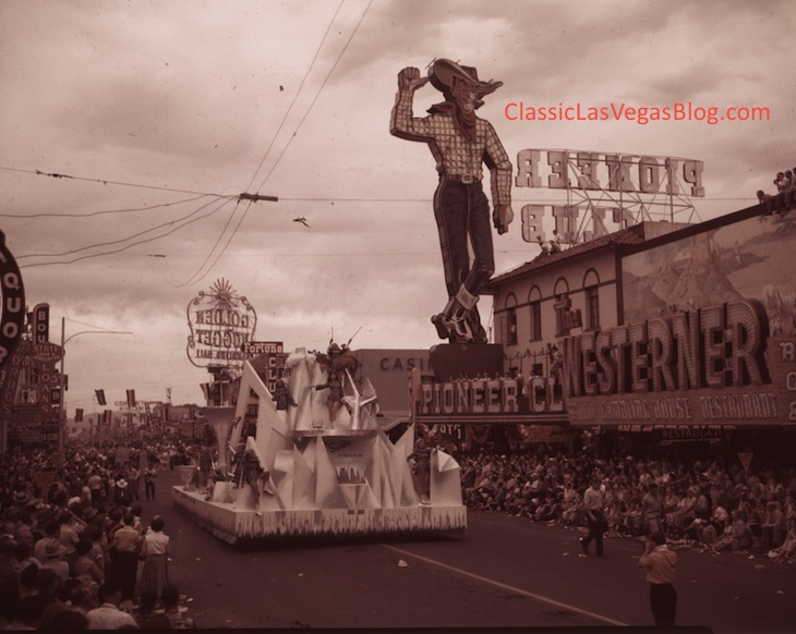 Sands Hotel float, Helldorado beauty parade, 1950s courtesy of UNLV Special Collections