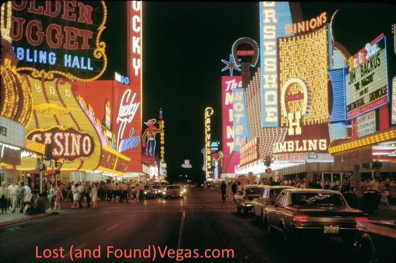 Classic Fremont Street, courtesy of Joel Rosales,  lostandfoundvegas.com