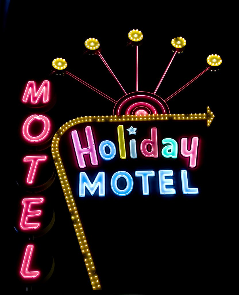 Holiday Motel at night!