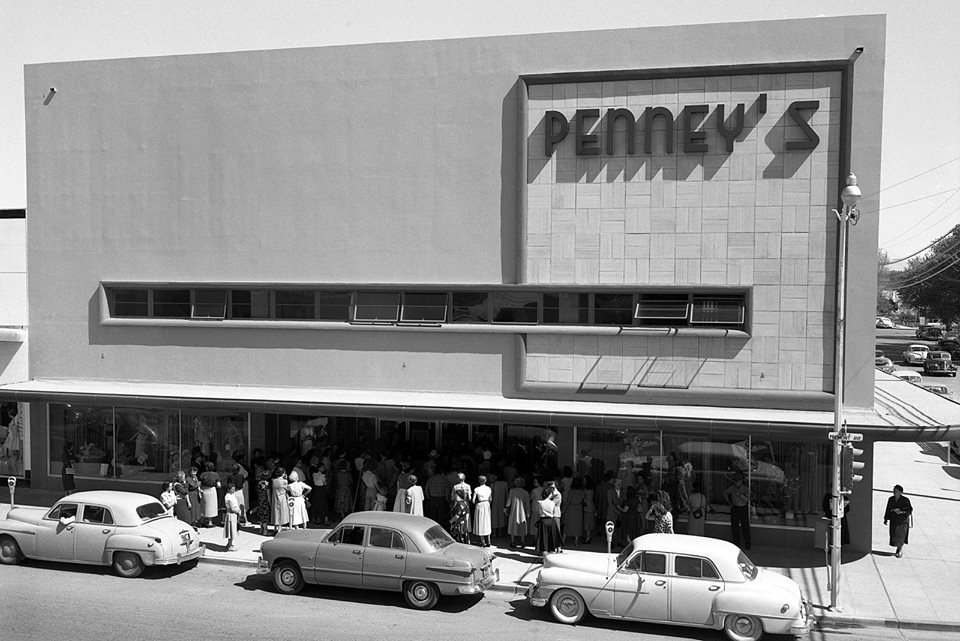 J.C, Penney's on Fremont St (now the Emergency Arts bldg), catalog pick up counter was around the corner