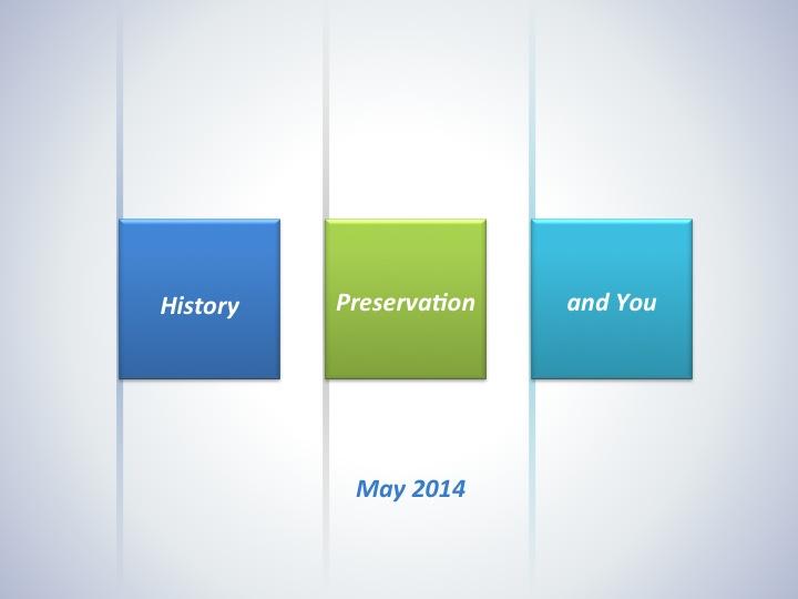 Help Celebrate Preservation Month!