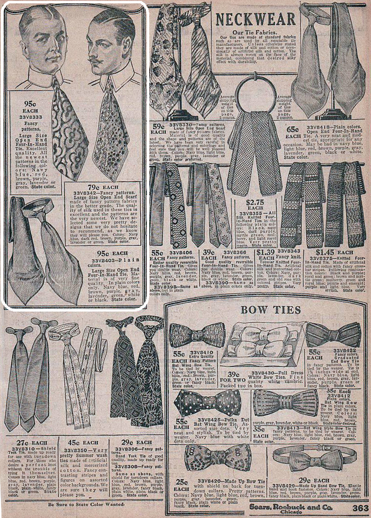 Sears catalog illustration of the popular Slip Scarf  Photo courtesy of Karan Feder