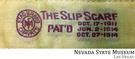 Inside label from Slip Scarf in the NSM, LV collection  Photo courtesy of Karan Feder