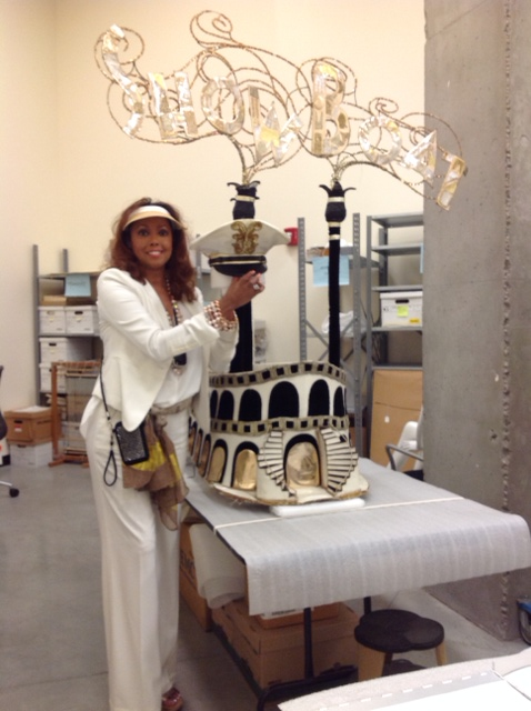"Jakki Ford    and the ""Show Boat"" costume, NSM, LV collection  Photo courtesy of Karan Feder"