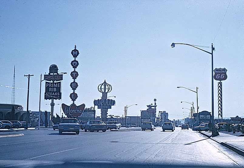 The famed Las Vegas Strip in the 1960s
