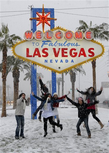 The Fabulous Las Vegas sign in December, 2008