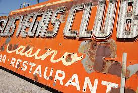 Las Vegas Club signage in the Neon Boneyard