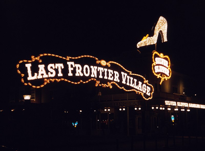 Last Frontier Village and SS neon night 1957.jpg