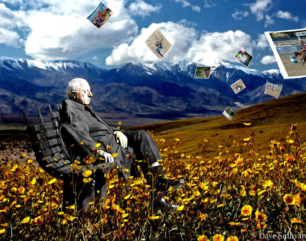 Daisies and Mountains Man on BenchOP19-Aug-2012.jpg