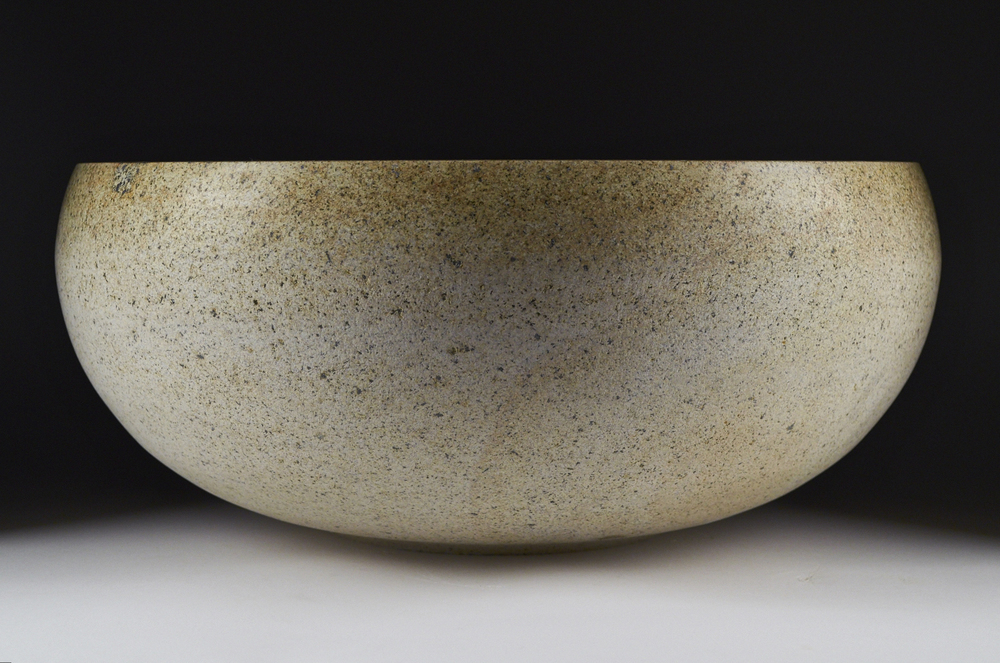 """Client: Ken Matsumoto-Art Object Gallery.  http://www.artobjectgallery.com/index/#/ken-matsumoto/                              Details: """"White Usu"""" 30""""X 8"""" Carved Stone (Japanese rice pounding mortar). 2013"""