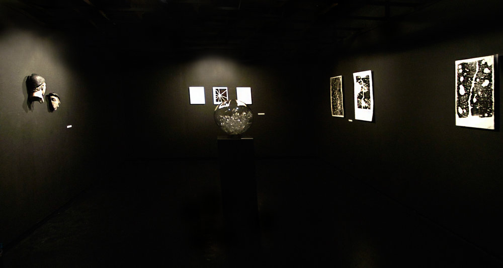 "Overview of 'Fracture"" at the Black Gallery."