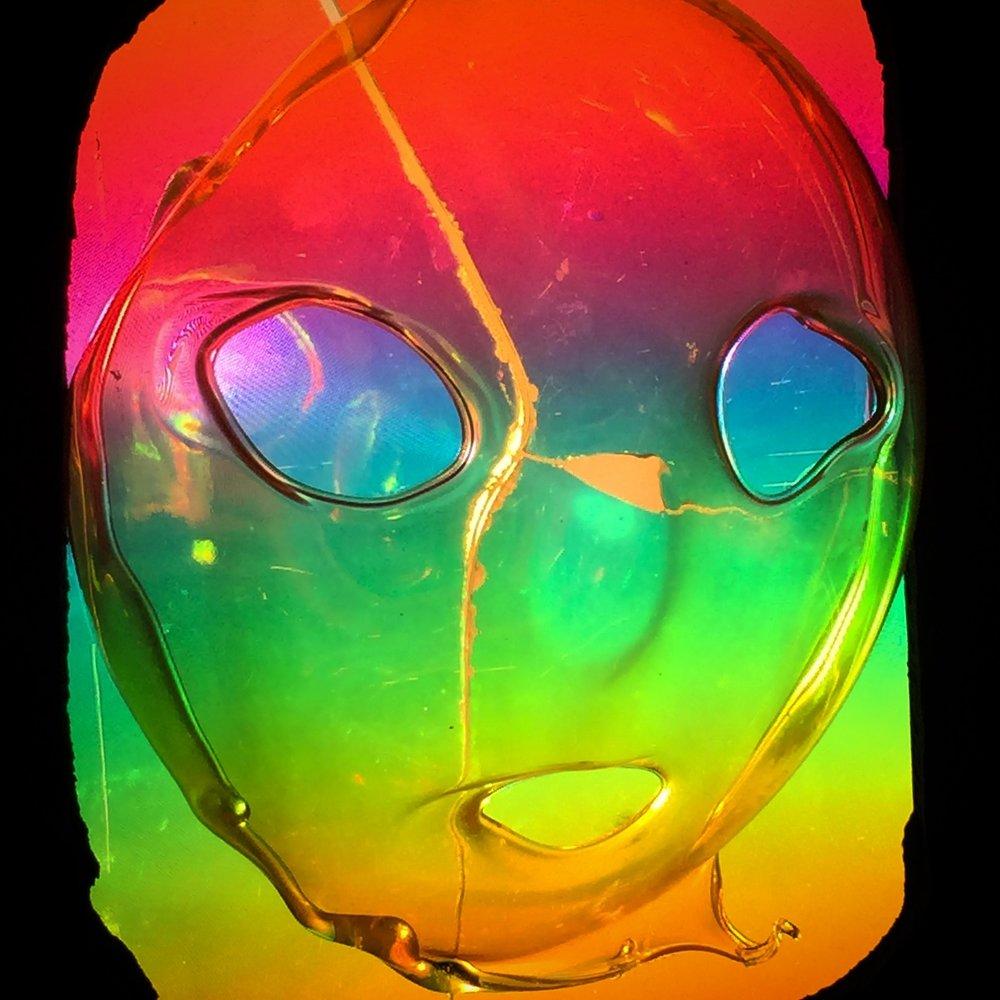 """Detail of """"The Eternal Return"""" Mask"""