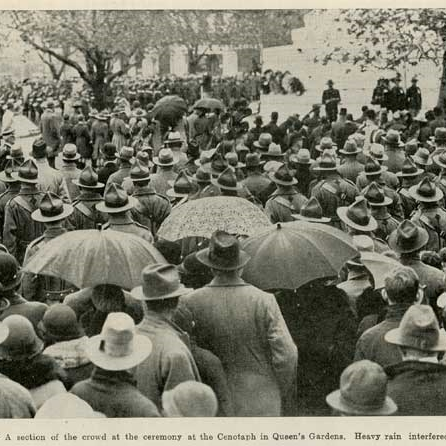 Dawn Parade 1936, Queens Gardens, Dunedin