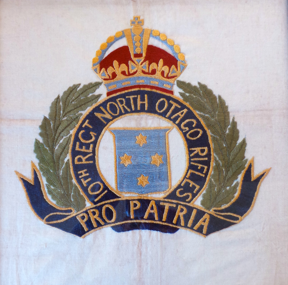 Embroidery by Private Atkin whilst convalescing after being wounded in 1918.