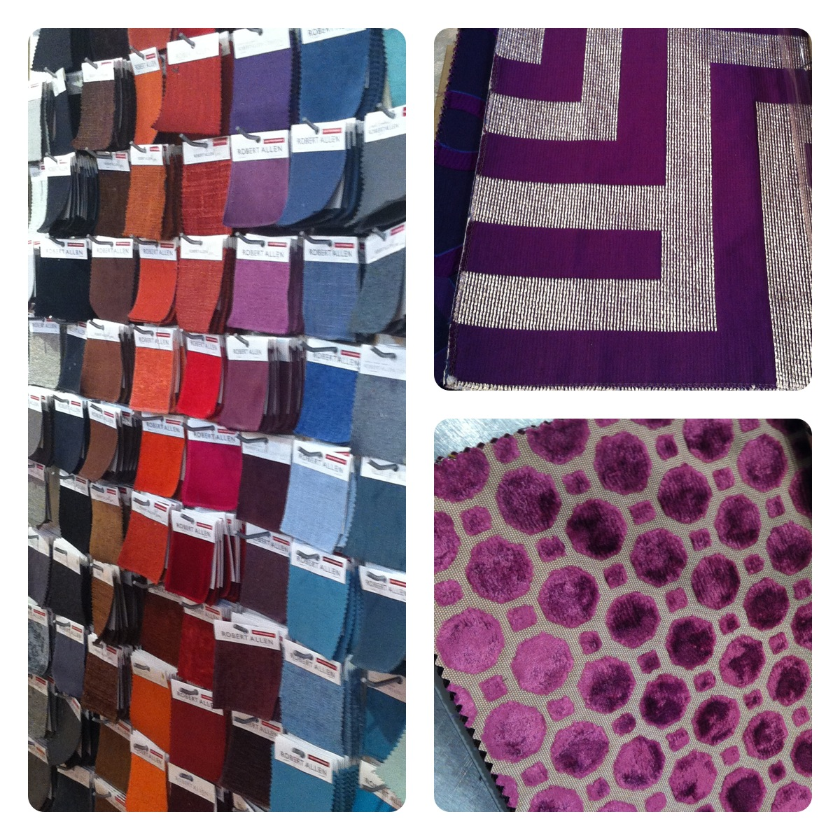 Purple Fabric Samples