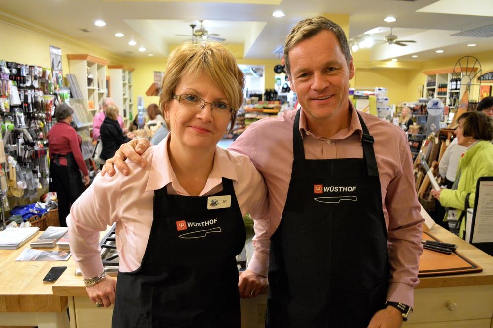 Jill's Table Owner Jill Wilcox & WÜSTHOF Canada President Derek Marcotte