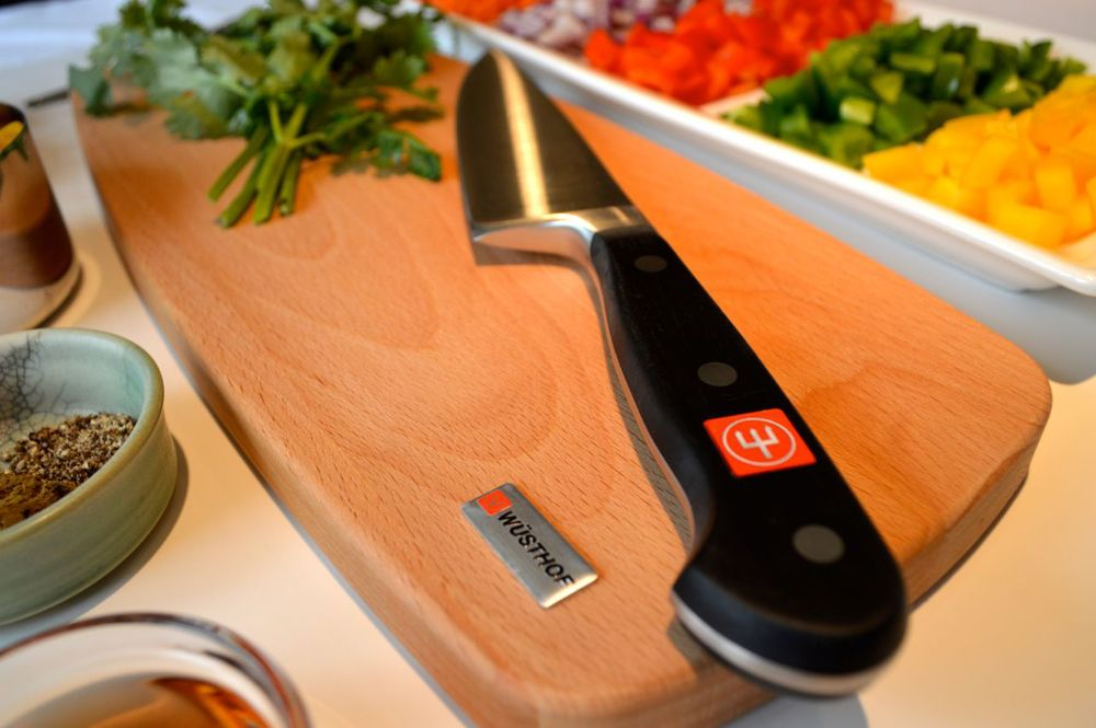The WÜSTHOF Classic Chef's Knife & Cutting Board Set is perfect for chopping vegetables.