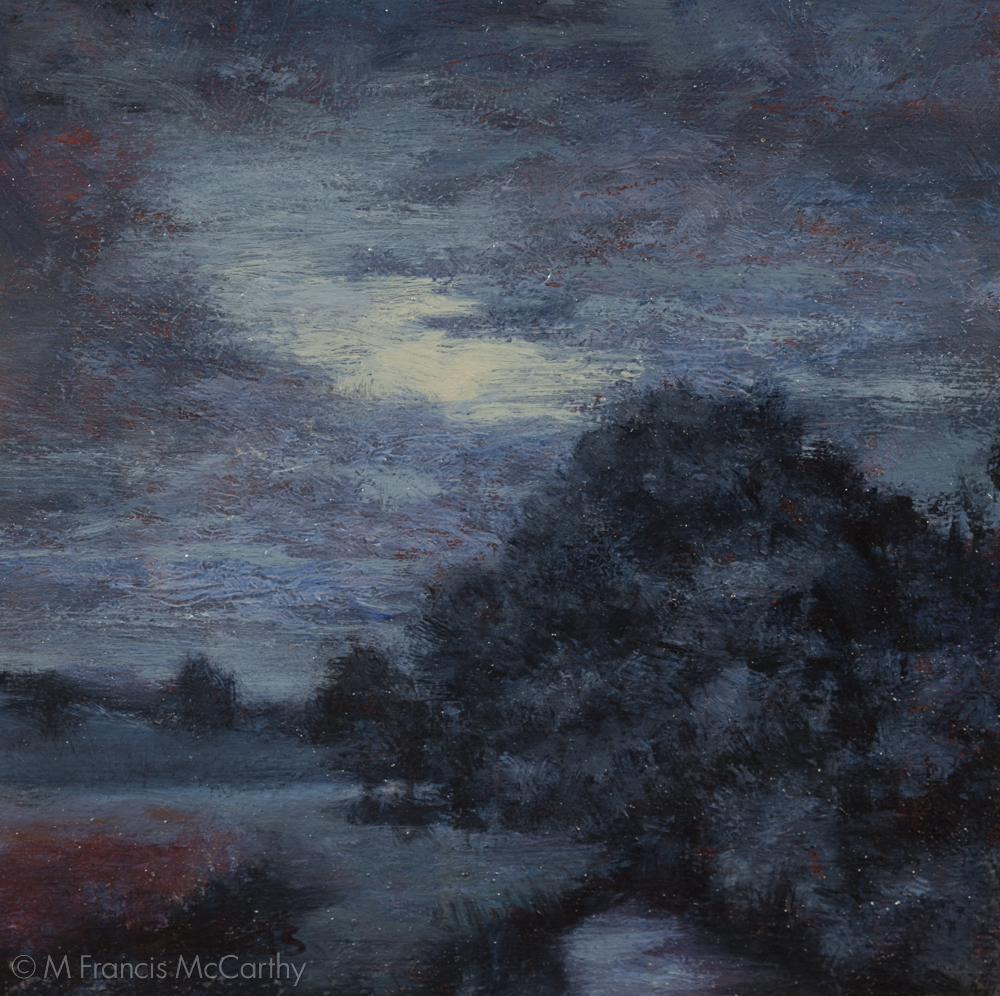 """Moonlit Meadow""  (5x5) by M Francis McCarthy"
