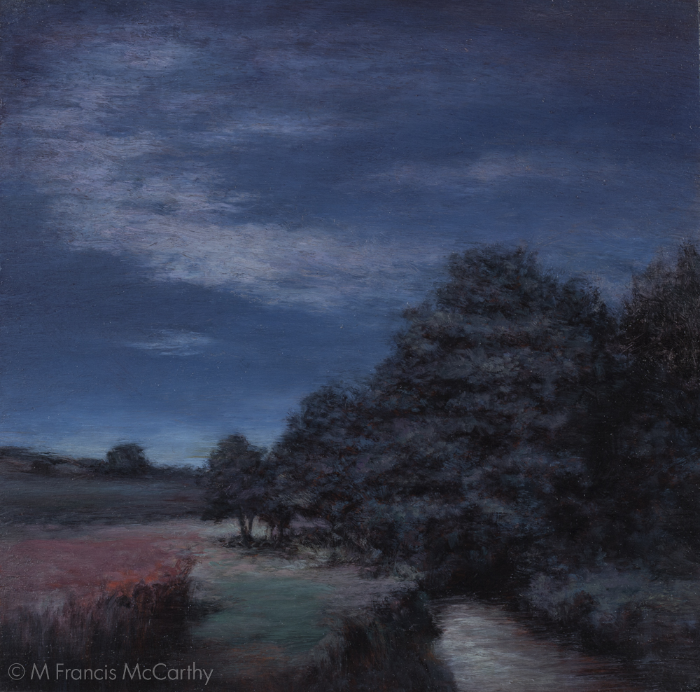 """Moonlit Meadow""  (11x11) by M Francis McCarthy"