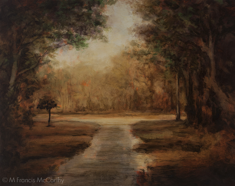 """Woodland Path"" Size 8x10 by M Francis McCarthy"