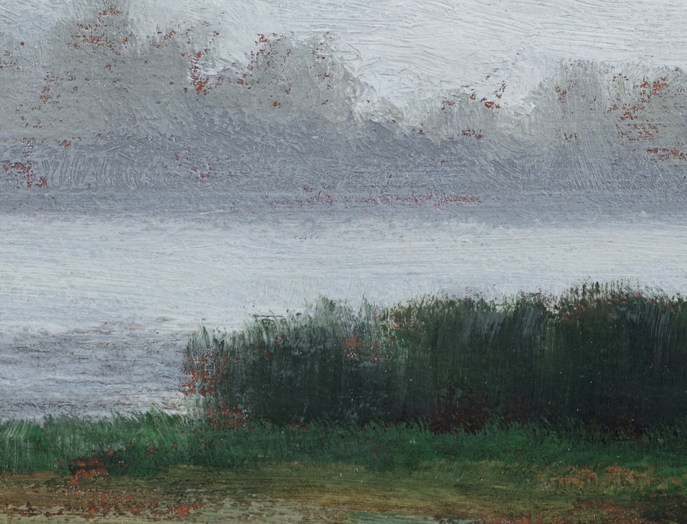 Misty Lake 5x7 by M Francis McCarthy, Oil on Wood Panel (Detail 2)