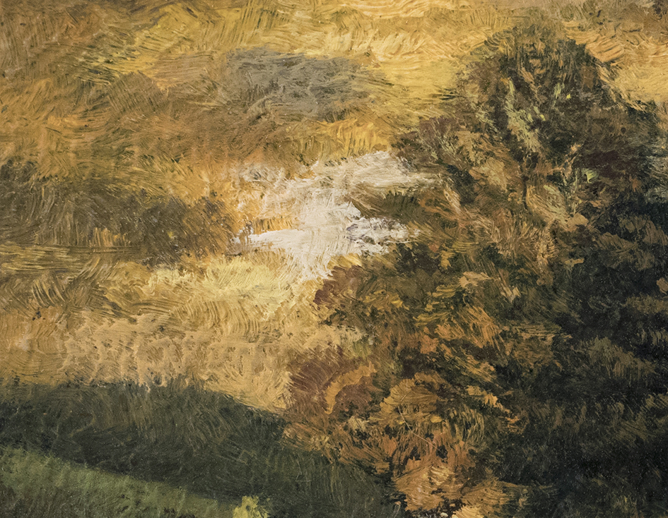 Twilight Road 3½x3½ by M Francis McCarthy (Detail)
