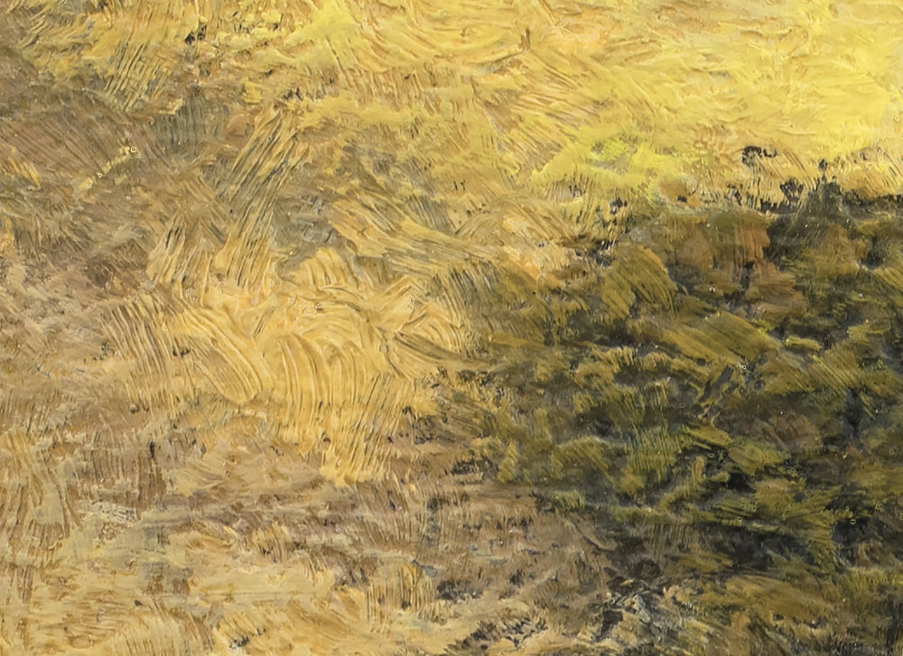 Meadow Path 6x8 by M Francis McCarthy (Detail)