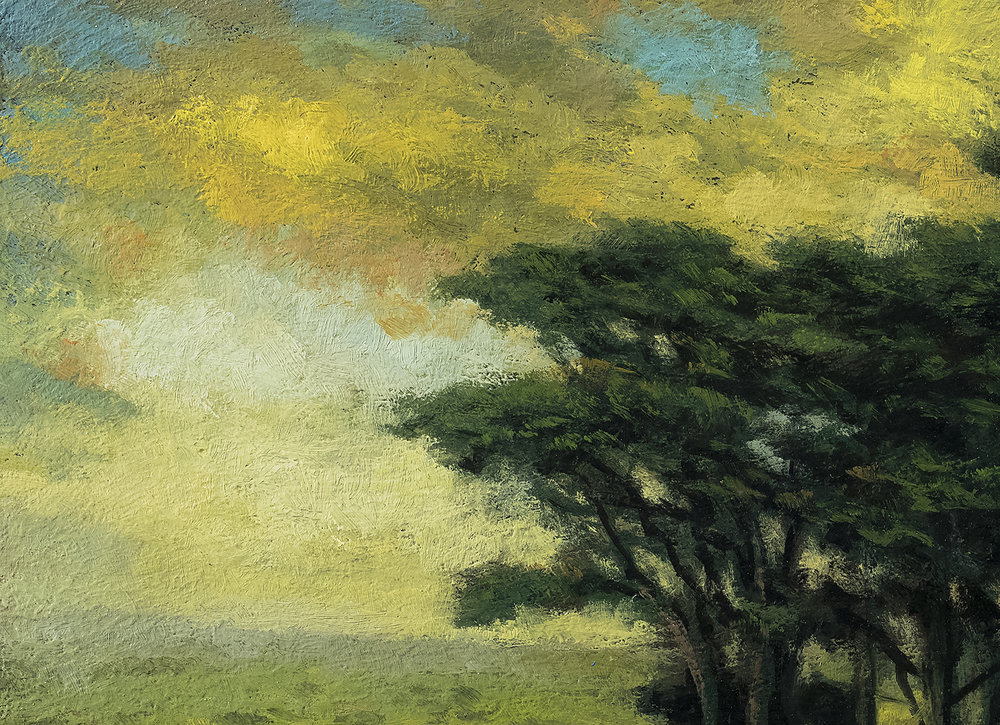 Trees over the Valley 7x10 by M Francis McCarthy (Detail)