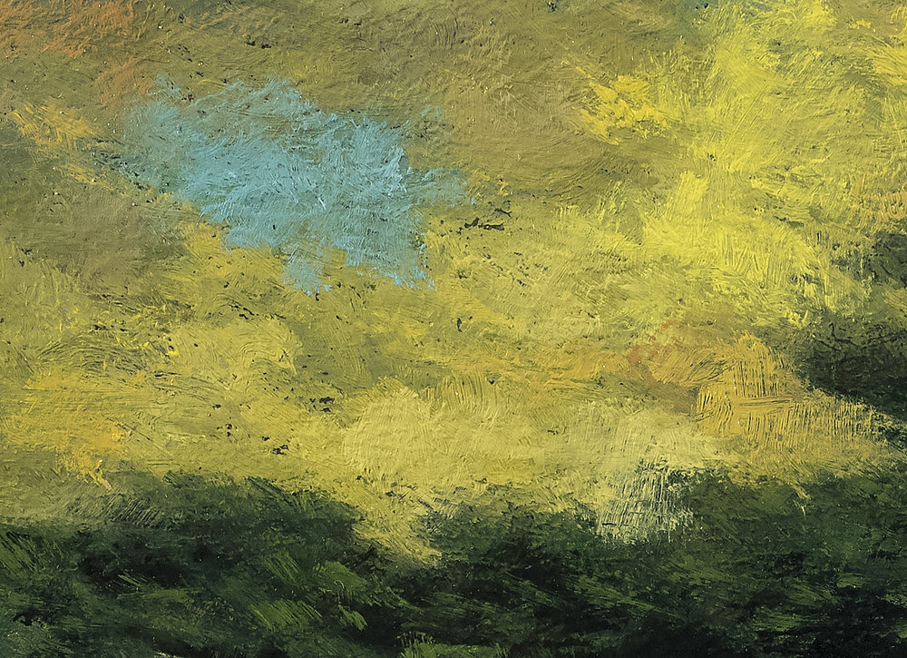 Trees over the Valley 7x10 by M Francis McCarthy (Detail 2)