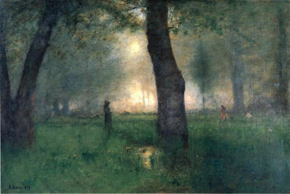George Inness the Trout Brook (Original)