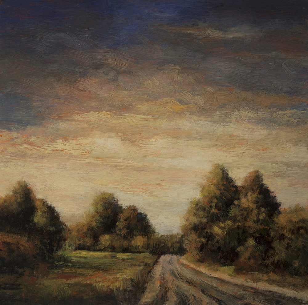 Russel Road 8x8 by M Francis McCarthy - 5x7 Oil on Wood Panel