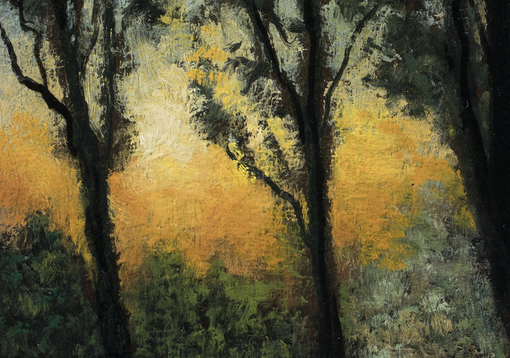 Twilight Trail by M Francis McCarthy - 6x8 (Detail)