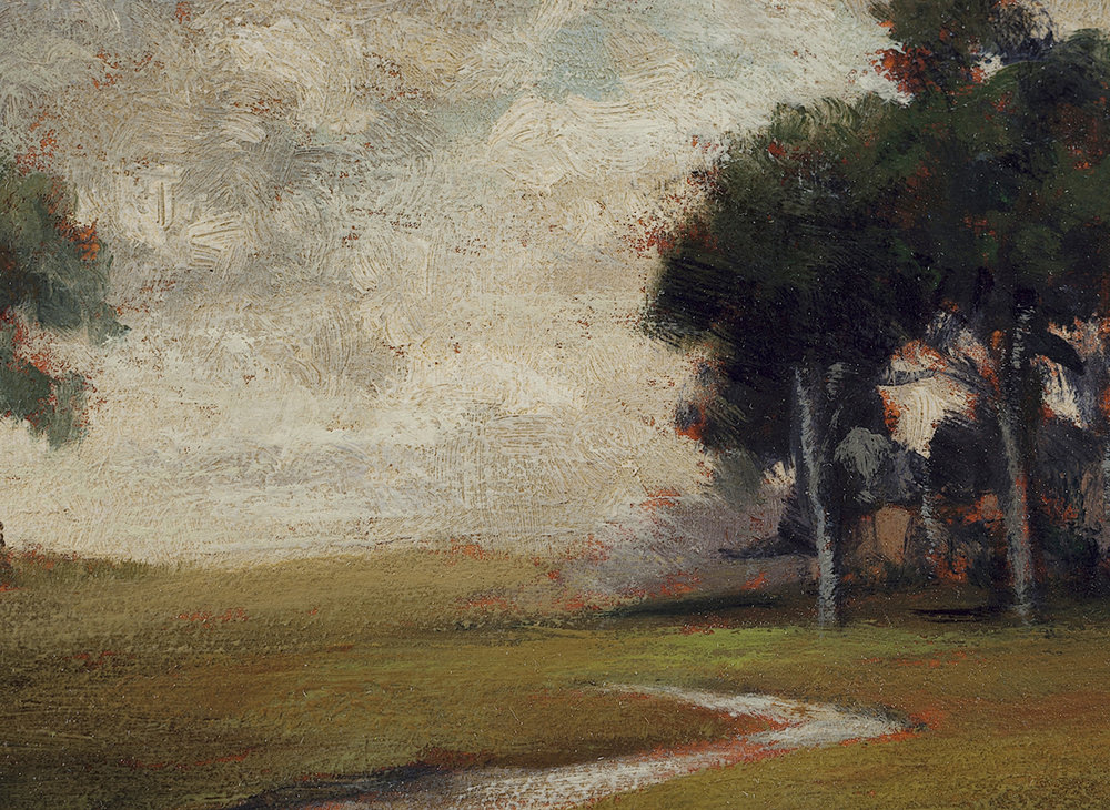 Hillside Stream by M Francis McCarthy - 5x7 (Detail)