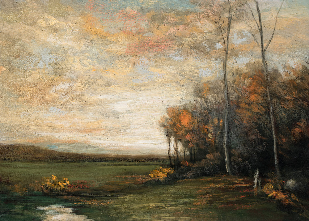 Study after John Francis Murphy Autumn by M Francis McCarthy - 5x7 Oil on Wood Panel