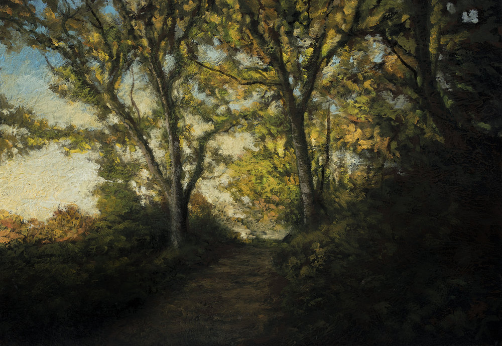 Late Afternoon Trail by M Francis McCarthy - 7x10 Oil on Wood Panel