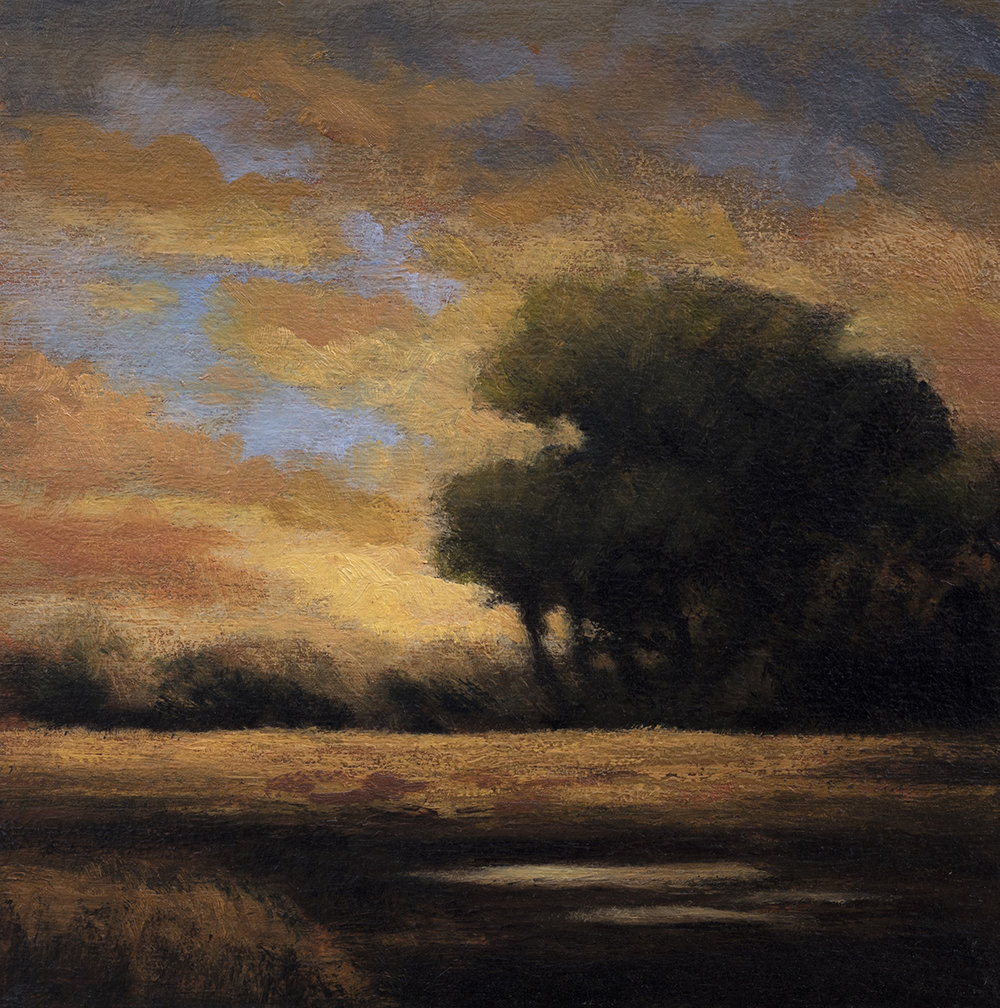 Eventide by M Francis McCarthy - 5x5 Oil on Wood Panel
