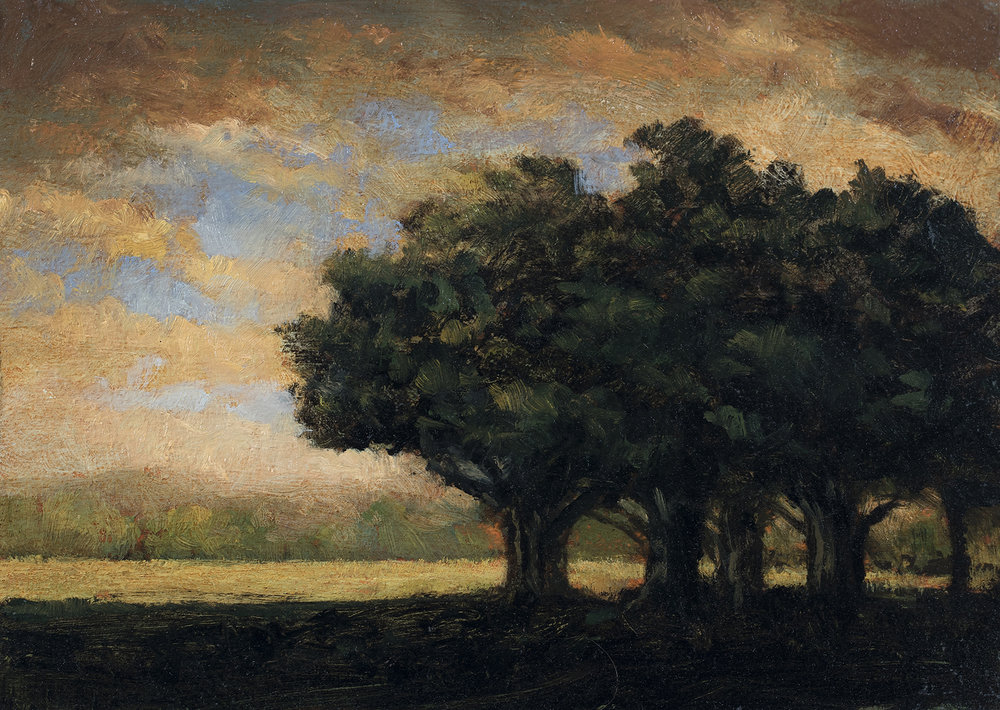 Fredricks Field by M Francis McCarthy - 5x7 Oil on Wood Panel