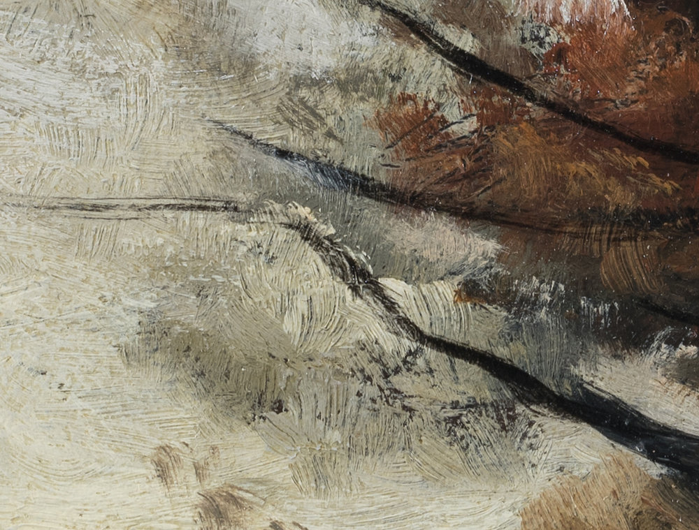 Study after Paul Desire Trouillebert 'Autumn' by M Francis McCarthy - 5x7 (Detail)
