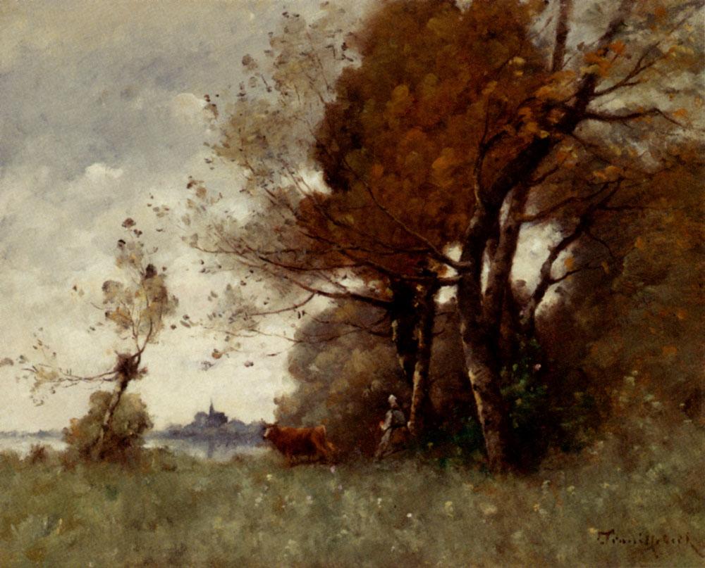 Paul Desire Trouillebert 'Autumn' Original