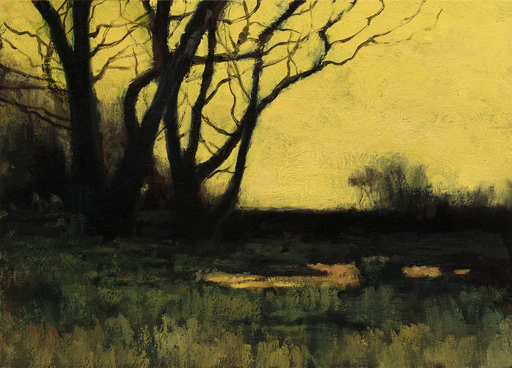 Study after Charles Warren Eaton 'Autumn' by M Francis McCarthy - 5x7 Oil on Wood Panel