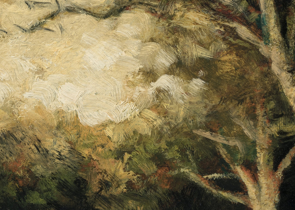 Late Afternoon Field by M Francis McCarthy - 5x7 (Detail)