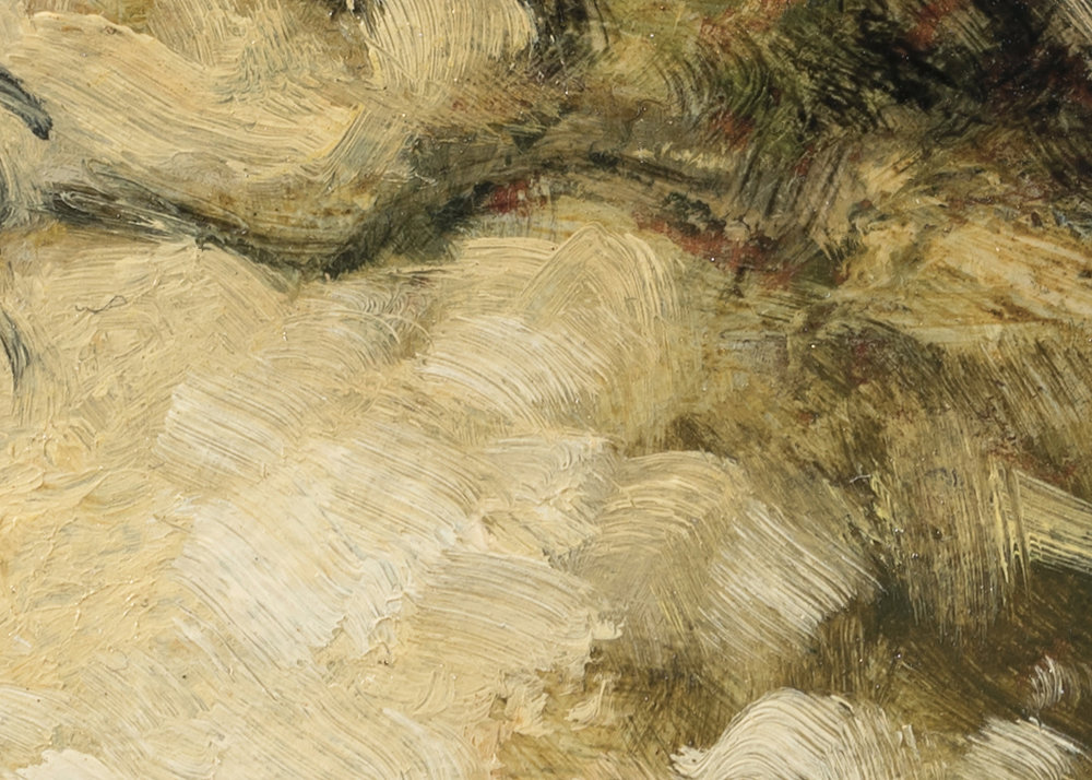 Late Afternoon Field by M Francis McCarthy - 5x7 (Detail 2)
