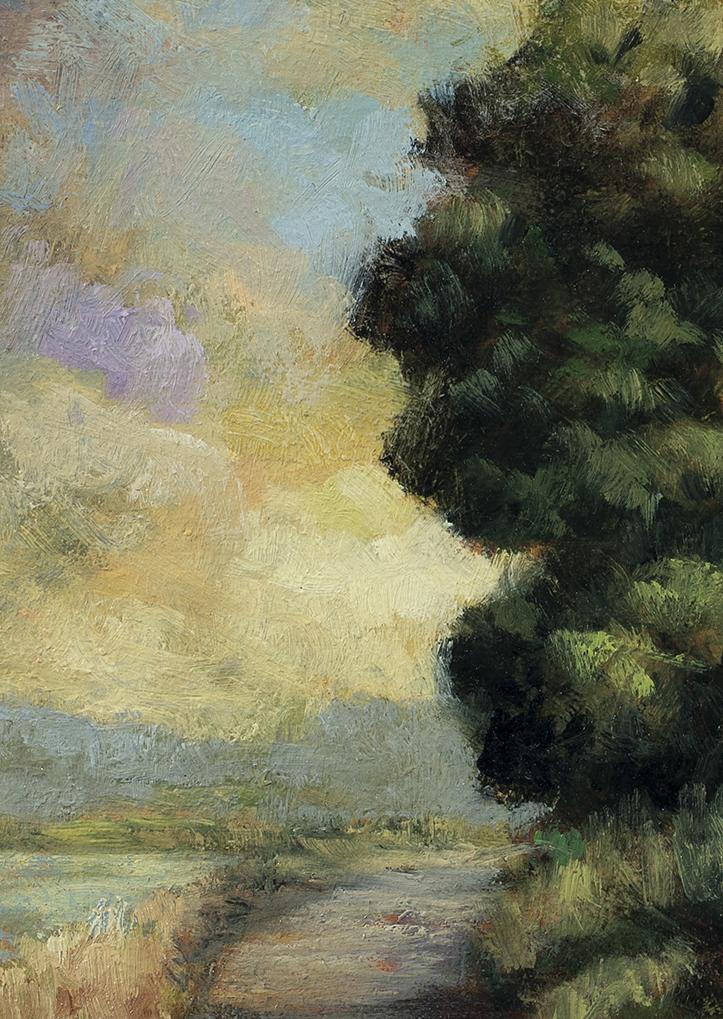 Lake Path by M Francis McCarthy - 5x7 (Detail)
